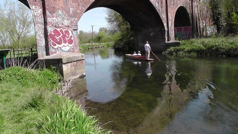 Punt on the Stour, Whitehall Meadow